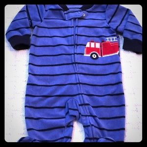 Fire Engine Zip-Up Fleece Sleep & Play 3 M